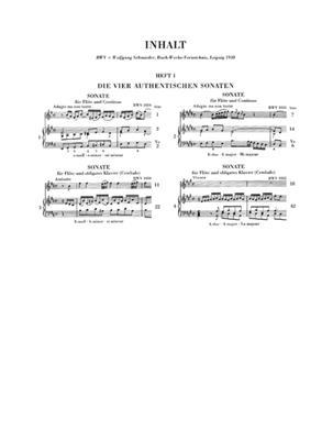 Johann Sebastian Bach: Flotensonaten I - Die Vier Authentischen Sonaten: Flute