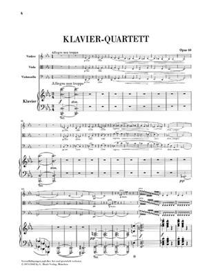 Johannes Brahms: Piano Quartet In C Op.60: Piano Quartet