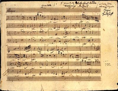 Wolfgang Amadeus Mozart: String Quartet In F KV 168: String Quartet