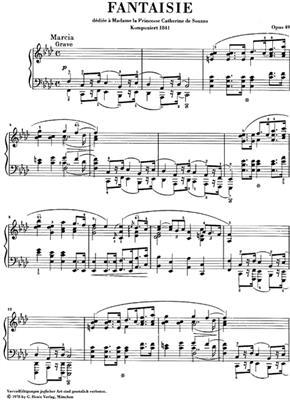 Frédéric Chopin: Fantasie F-Moll Op. 49: Piano