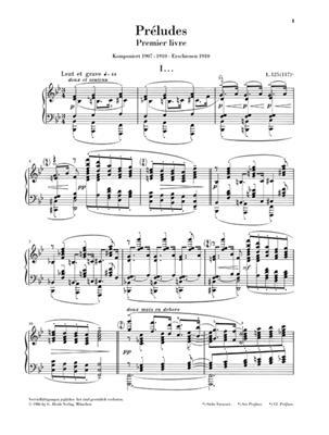 Claude Debussy: Préludes - Premier Livre: Piano