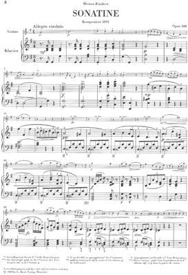 Antonín Dvořák: Sonatina For Piano And Violin In G Op.100: Violin