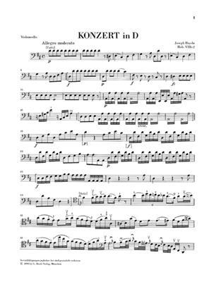 Franz Joseph Haydn: Violoncello Concerto In D Major Hob. VIIb: Cello