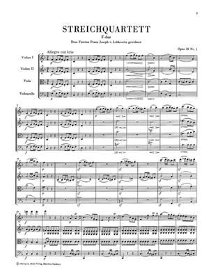 Ludwig van Beethoven: String Quartets Volume 1: String Quartet
