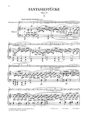 Robert Schumann: Fantasy Pieces For Piano And Clarinet: Violin