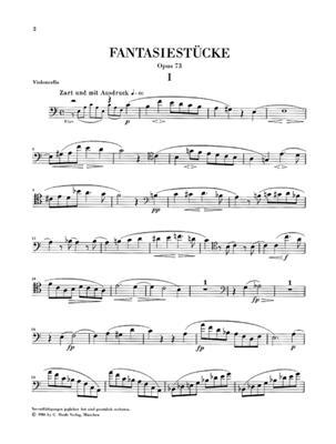 Robert Schumann: Fantasy Pieces For Piano And Clarinet Op.73: Cello
