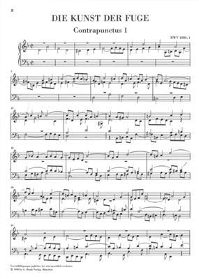 Johann Sebastian Bach: The Art Of Fugue BWV 1080: Piano