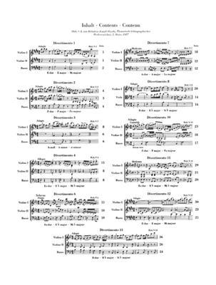 Franz Joseph Haydn: Streichtrios Heft I: String Trio