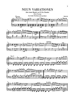 Ludwig van Beethoven: Variations For Piano Clothbound: Piano