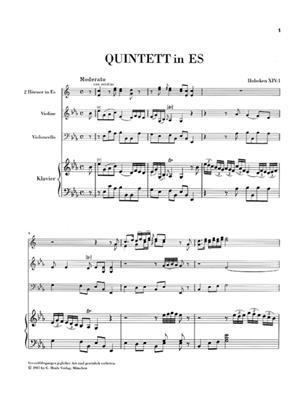 Franz Joseph Haydn: Quintett Es-Dur Hob.XIV:1: Piano Quintet