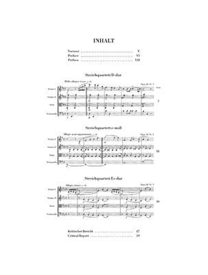 Felix Mendelssohn Bartholdy: String Quartets op. 44, 1-3: String Quartet
