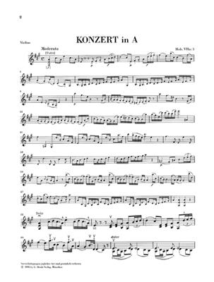 Franz Joseph Haydn: Concerto for Violin and Orchestra In A Hob. VIIa: Violin