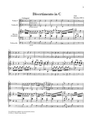 Franz Joseph Haydn: Divertimenti for Piano: Piano Quartet