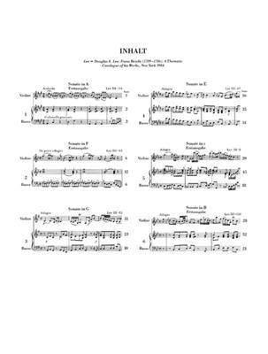 Franz Benda: 6 Sonaten: Violin