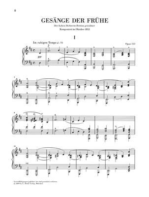 Robert Schumann: Gesang Der Fruhe Op.133: Piano