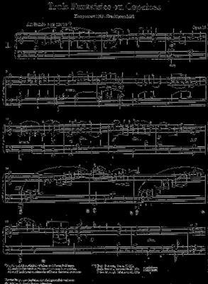 Felix Mendelssohn Bartholdy: Three Fantasies or Cappricios op. 16: Piano