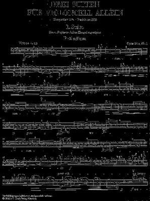 Max Reger: 3 Suiten Opus 131C: Cello