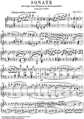 Ludwig van Beethoven: Piano Sonata In C Minor, Op. 10, No. 1: Piano