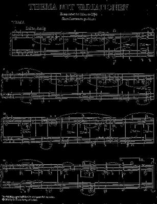 Robert Schumann: Variations On A Theme In E-Flat: Piano