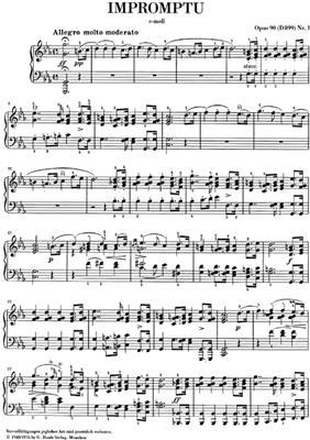 Franz Schubert: Impromptu c minor op. 90,1 D 899: Piano