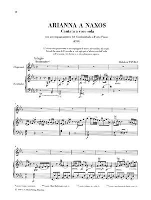 Franz Joseph Haydn: Arianna A Naxos - Cantata A Voce Sola: Voice