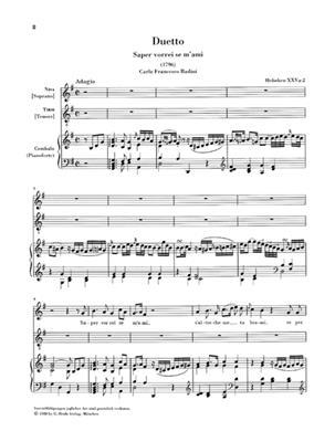 Franz Joseph Haydn: Zwei Duette - Sopran, Tenor Und Klavier: Voice