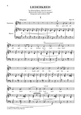 Robert Schumann: Song Cycle Op. 24: Voice