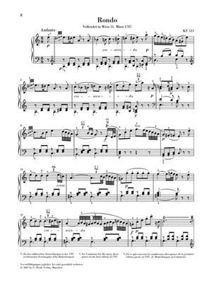 Wolfgang Amadeus Mozart: Rondo A Minor K. 511: Piano