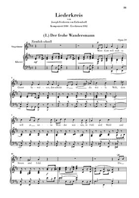 Robert Schumann: Song Cycle Op.39 for Voice and Piano: Vocal