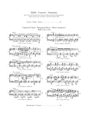 Johannes Brahms: Hungarian Dances Nos. 1-10: Piano