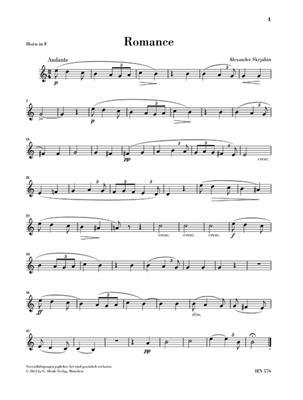 Alexander Skrjabin: Romance für Horn und Klavier: French Horn