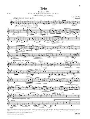 Alexander Zemlinsky: Clarinet Trios D Minor Op. 3 For Piano, Clarinet: Mixed Ensemble