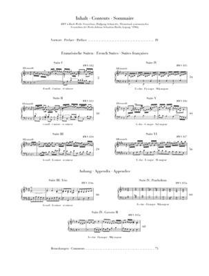 Johann Sebastian Bach: Französische Suiten BWV812-817 (Clothbound): Piano