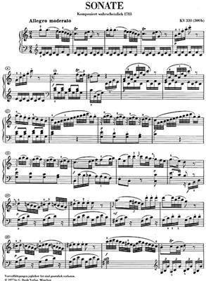 Wolfgang Amadeus Mozart: Piano Sonata In C K.330: Piano