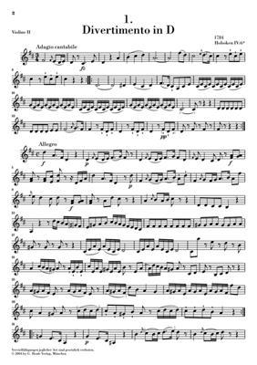 Franz Joseph Haydn: Six Divertimenti For Violin: String Trio