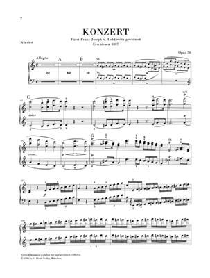 Ludwig van Beethoven: Concerto C major op. 56: Piano Duet