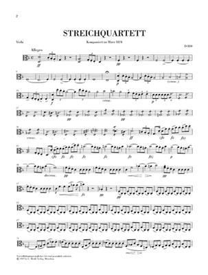 Franz Schubert: The Death And The Maiden In D Minor D 810: String Quartet