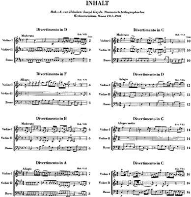 Franz Joseph Haydn: Streichtrios Heft III: String Trio