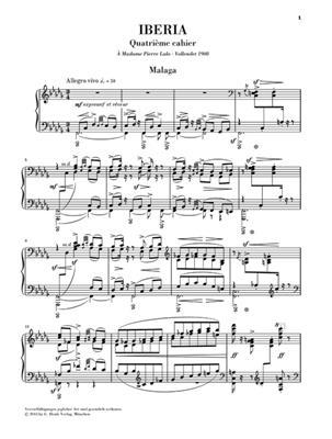 Isaac Albéniz: Iberia 4: Piano or Keyboard