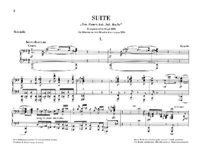 Max Reger: Suite e-moll Opus 16 ( Orgel ): Piano Duet
