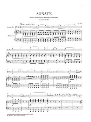Felix Mendelssohn Bartholdy: Sonata For Piano And Violoncello In D Op. 58: Cello