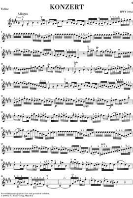 Johann Sebastian Bach: Concerto For Violin And Orchestra In E BWV 1042: Violin