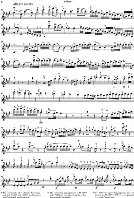 Wolfgang Amadeus Mozart: Violin Concerto no. 5 A major K. 219: Violin