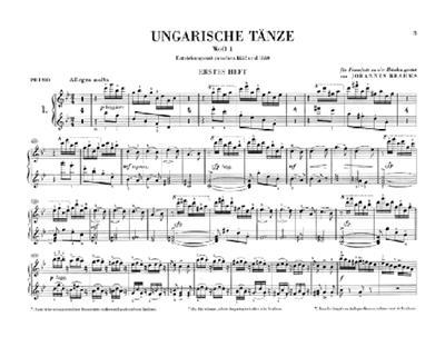 Johannes Brahms: Hungarian Dances for Piano Four-hands: Piano Duet