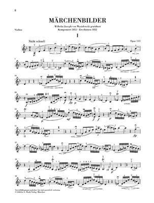 Robert Schumann: Fairy-Tale Pictures For Violin And Piano Op.113: Violin