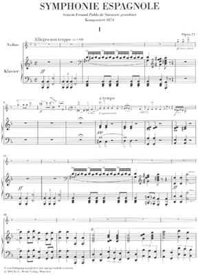 Edouard Lalo: Symphonie Espagnol d-moll Opus 21: Violin