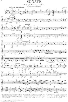 Ludwig van Beethoven: Sonate Für Klavier und Violine Op. 47: Violin