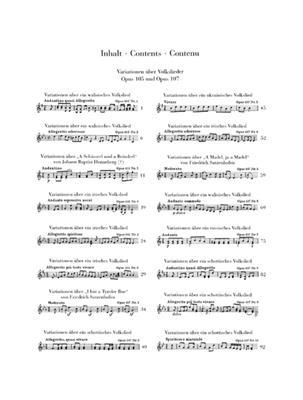Ludwig van Beethoven: Variations On Folk Songs Op.105 And 107: Flute