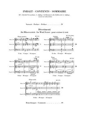 Wolfgang Amadeus Mozart: Divertimenti For Wind Sextet: Wind Ensemble