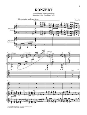 Edvard Grieg: Piano Concerto In A Minor Op.16: Piano Duet